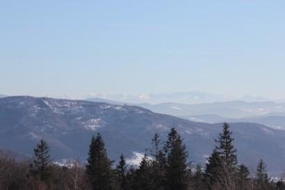 Tatry widziane z Hrobaczej Łąki