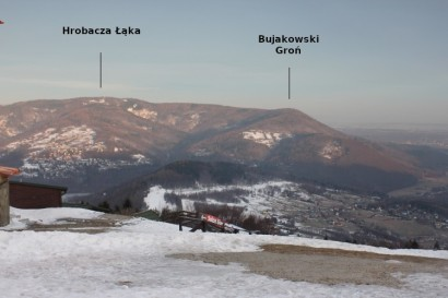 Widok na Hrobaczą Łąkę z Góry Żar