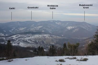 Panorama z Kiczery