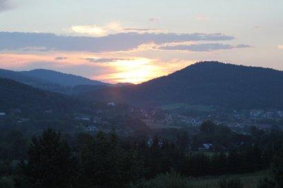 Zachód Słońca w Beskidzie