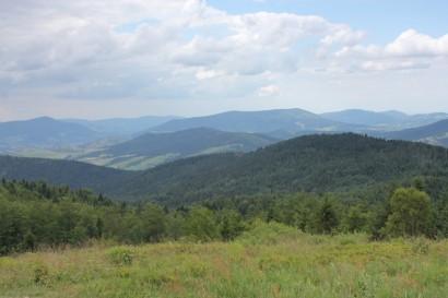Panorama z polany pod Jasieniem