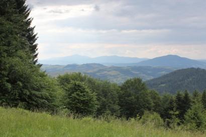 Ciąg dalszy panoramy z polany pod Jasieniem