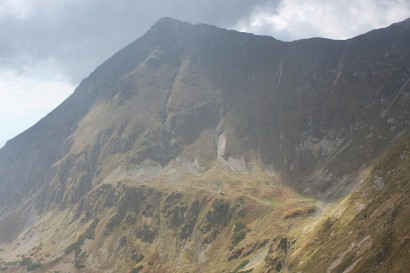 Widok z Kończystego Wierchu na Jakubinę