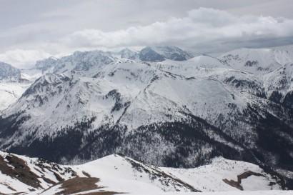 Panorama słowackich Tatr Zachodnich z Kopy Kondrackiej
