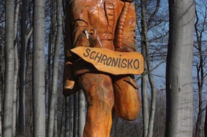 Drogowskaz do schroniska pod Biskupią Kopą