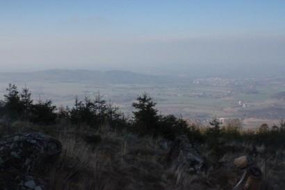 Widok z przełęczy pod Biskupią Kopą