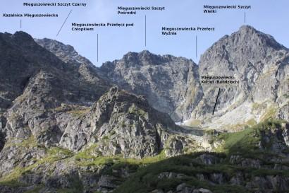 Szczyty Mięguszowieckie: Panorama