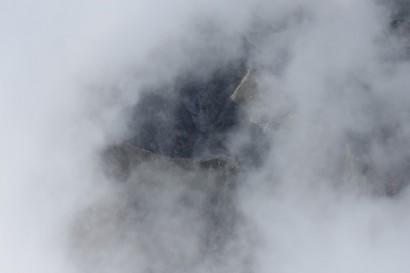 Szlak na Mięguszowiecką Przełęcz pod Chłopkiem widziany z Rysów