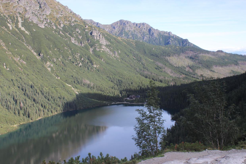 Widok na Morskie Oko i Dolinę Rybiego Potoku
