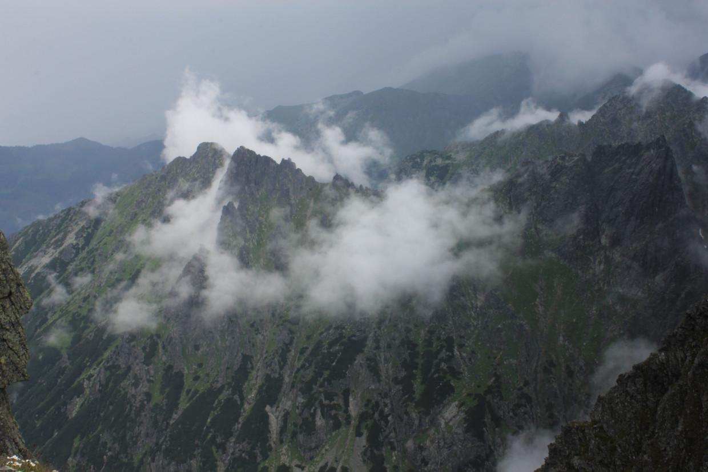 Widoki z Mięguszowieckiej Przełęczy pod Chłopkiem