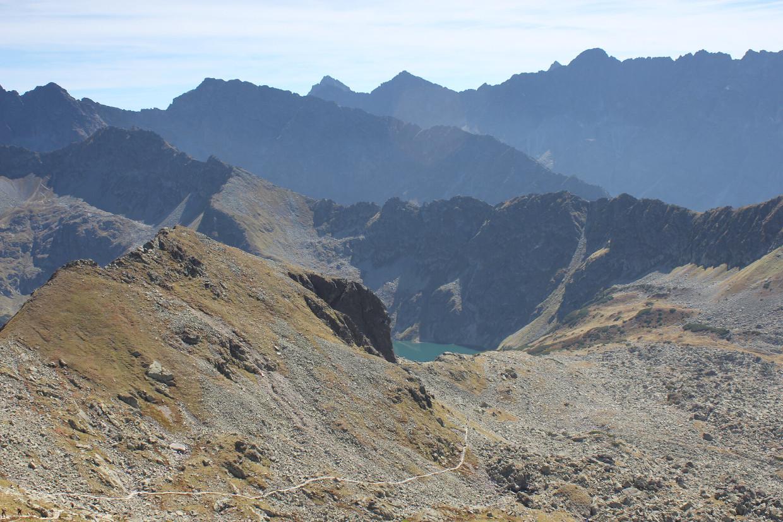 Widok na Tatry Wysokie z Przełęczy Zawrat