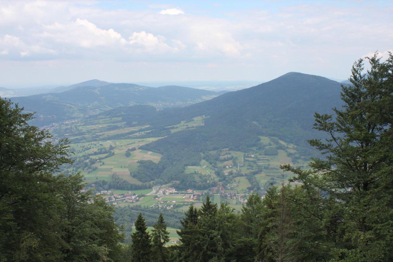 Widok ze Szczebla na Lubogoszcz