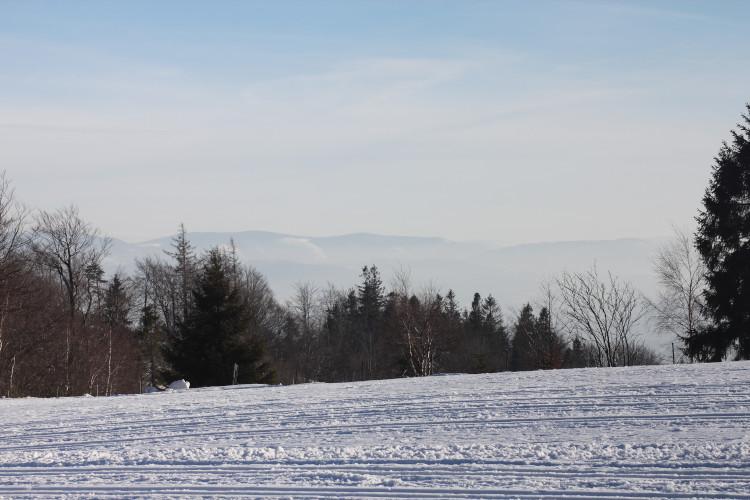 Beskid Żywiecki widziany ze szlaku na Magurkę Wilkowicką